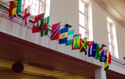 Flags at Upper Clapton URC